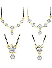 Jewels Galaxy Gold Plated Jewellery Set For Women (White)(CB-MS-884)