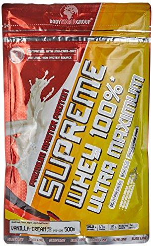 BWG Premium Master Protein Supreme Whey 100%, Vanilla Cream, 1er Pack (1x 500g) -