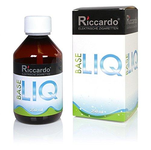 Riccardo Basisliquid Natural, 80 % VG / 20 % H2O, 99,5 % Ph. Eur, 250 ml, Basis Liquid 0,0 mg Nikotin