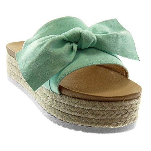 Noeud Slip 5 Femme Angkorly 4 Compensé Sandale Chaussure Plateforme dxrhCtsQ