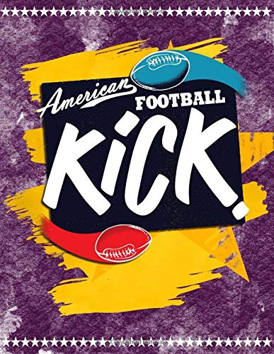 American Football Kick: Quad Ruled 5x5 Graph Paper Notebook (5 squares per inch) - Large 8.5