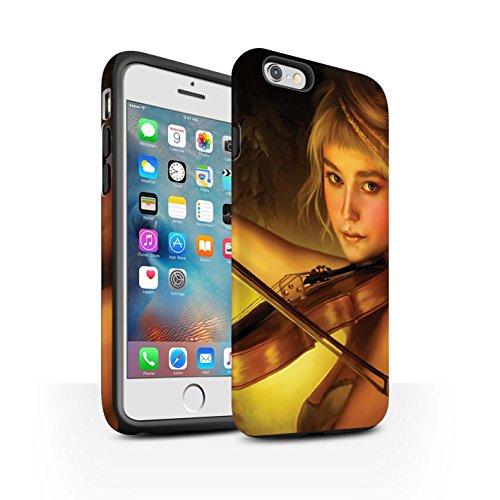 Officiel Elena Dudina Coque / Matte Robuste Antichoc Etui pour Apple iPhone 6S+/Plus / Beauté/Violon Design / Réconfort Musique Collection Beauté/Violon