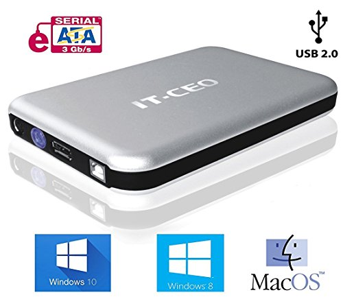IT-735 COMBO USB 2 / ESATA DE 3 5 PULGADAS DISCO DURO SATA DE CAJA DE DISCO USB 2 0 ESATA HDD EXTERNO SIN NECESIDAD DE HERRAMIENTAS MONTAJE EN EN PLATA