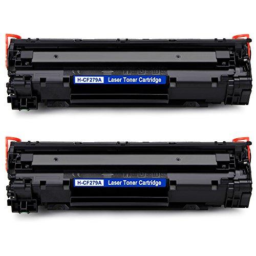 Ikong compatible hp cf279a 79a cartucce di toner, 2 nero per hp laserjet pro m12w m12a m12, stampante hp laserjet pro mf26 m26nw m26a m26-1.000 pagine per cartuccia di toner cf279a 79a