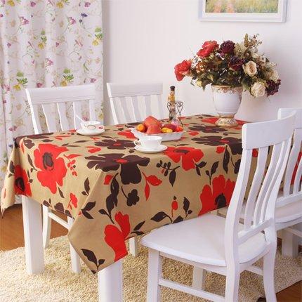 BLUELSS Japan Style Blume Tischdecke aus Baumwolle und Leinen Tisch Tuch Macrame Dekoration Lacy Table Cover elegante Klassiker für Geschenk, 2114,130 x 180 cm