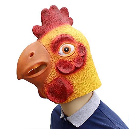 Hallows Kostüm Eve - Aishankra Hahn Latex Tier Halloween Kopf Maske Zum Halloween Cosplay Kostüm Party Dekorationen Requisiten Für Männer Frauen Und Kinder