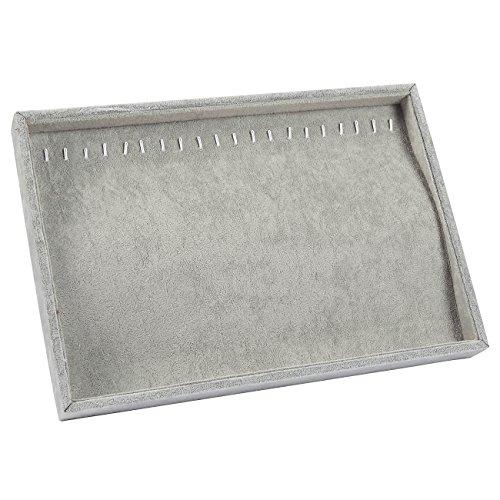Organizador-de-joyas–Bandeja-apilable-pantalla-caso-joyera-cajn-soporte-de-almacenamiento-con-ganchos-de-metal-para-pendientes-collares-cadenas-de-decoracin-color-gris–14-x-95-x-12-pulgadas