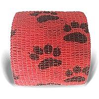 LisaCare Fixierbinde 5cmx4,5m | 2er Set mit Motiv Pfote/Tatze Rot | Kohäsive Bandage | Wundverband | Pflasterverband... preisvergleich bei billige-tabletten.eu