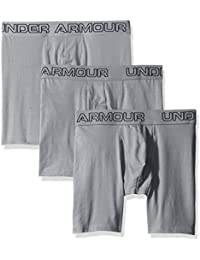 Under Armour Charged Cotton 6in, Bóxer para Hombre, Gris (Steel/Steel 039), S, Pack de 3