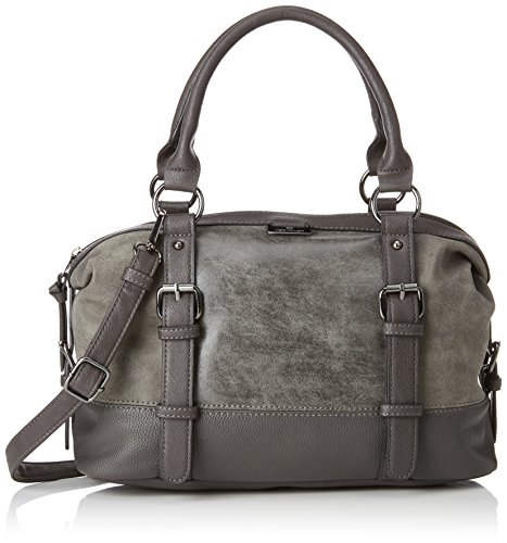 TOM TAILOR Handtasche Damen Juna, Grau (Grau), 14x19x35 cm, Bowling Tasche
