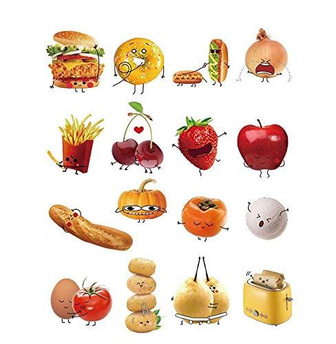 Wandaufkleber 3D Wandaufkleber Küche Wandtattoos Gemüse Mais Chili Emoji Wandaufkleber Peel And Stick Abnehmbare Vinyl Wandkunst Für Küche Esszimmer -