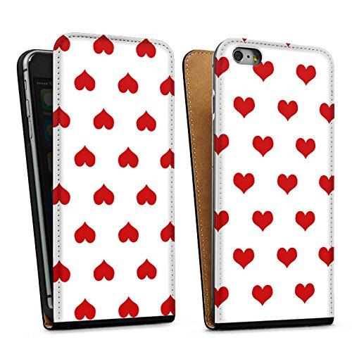 Apple iPhone 5s Housse Étui Protection Coque Polka c½urs Petit c½ur Fête de la bière Sac Downflip noir