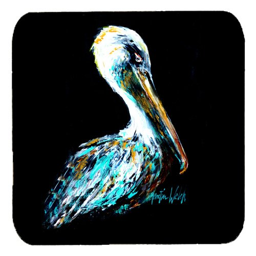 Caroline 's Treasures mw1164fc Dressed in schwarz Pelican Schaumstoff Untersetzer, 8,9cm Multicolor (Maus Gekleidet)