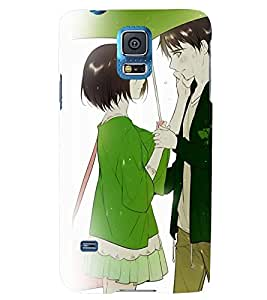 Printvisa Romantic Couple On A Rainy Day Back Case Cover for Samsung Galaxy S5 Mini::Samsung Galaxy S5 Mini G800F