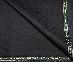 Raymond 45 % Merino Wool Blackish Green Unstitched Suit Fabric