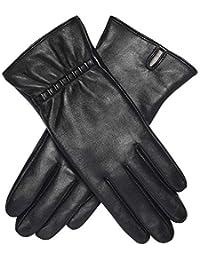 Acdyion Damen Winter Touchsreen Lederhandschuhe Echtleder Warme Kaschmirfutter Outdoor Freizeit Handschuhe Elegant Elastisch Slim Fit Luxus-Geschenke