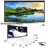 Yunn Pantalla Plegables de proyección 16: 9 HD Anti-Crease, Traje Home Cinema, Soporte para Fiestas en Interiores y Exteriores