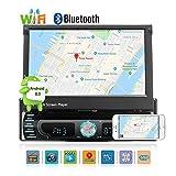"""Android 8,0 voiture radio stéréo audio 7,0""""support d'écran télescopique téléphone mobile Mirror Link/U disque/AUX/caméra de recul/Bluetooth/GPS Universal voiture CD/DVD Player..."""