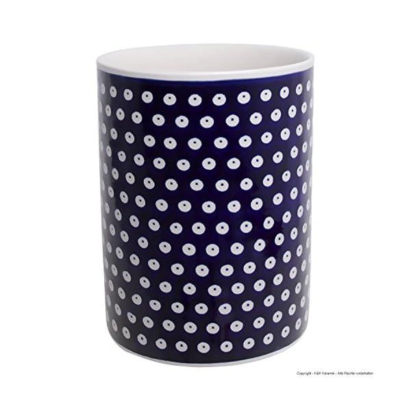 Polish Pottery Boleslawiec Utensil Pot, Storage, in TADPOLE pattern