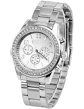 JS Direct jwq00932–Armbanduhr Damen, Armband in Edelstahl