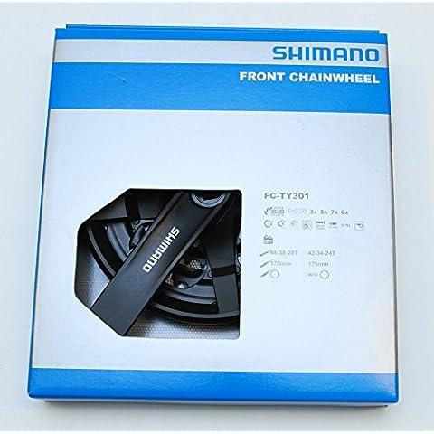 Crankset 6/7/8-Speed Black FC-TY301 48/38/28T 170mm w/CG