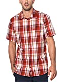 Jack Wolfskin Herren HOT Chili Hemd, Volcano red Checks, XXL