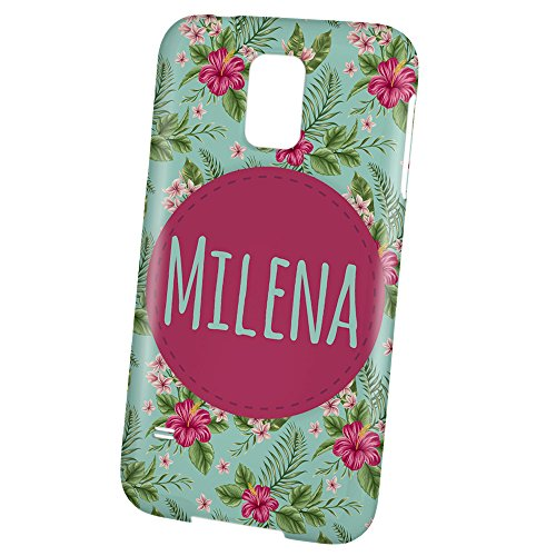 "PhotoFancy - Samsung Galaxy S5 Handyhülle mit Name Milena - Design ""Flower"""