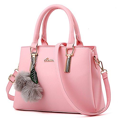 LiZhen Ms. pacchetti coreano in autunno e inverno nuova donna pacchetto è semplice ed elegante borsa tracolla di tendenza un cross-killer pacchetto la linea nera ricamate foulard di seta Rosa