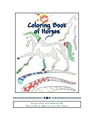 Coloring Book of Horses: Stress Reducing Art Therapy
