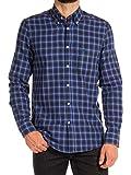 Carrera Jeans - Camicia 213B1220A per uomo, stile classico, fantasia a quadri, tessuto in flanella, vestibilità normale, manica lunga - G66 - Fantasia a quadri tinto filo sul tono del blue - X-large