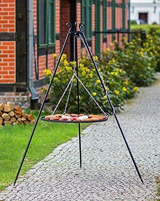 KORONO 5900105400048 Schwenkgrill am Dreibein 180 cm - Grillrost, Rohstal, 102 x 80 x 11 cm