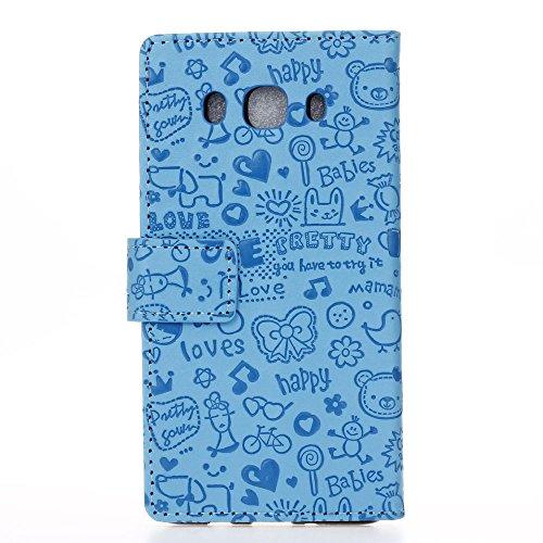 Voguecase® Pour IPhone SE Coque, Etui Housse Cuir Portefeuille Case Cover (papillon coloré 07)de Gratuit stylet l'écran aléatoire universelle Fille Magique-Bleu