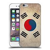 Head Case Designs Corée du Sud Coréen du Sud Drapeaux Vintage Coque en Gel Doux Compatible avec iPhone 6 / iPhone 6s