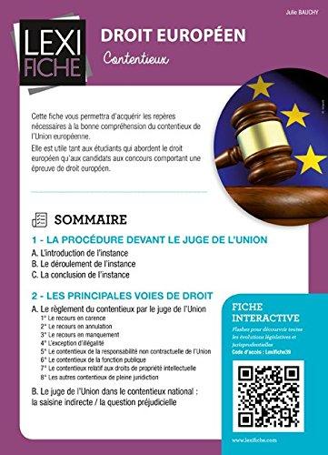 Droit européen : Le contentieux de l'Union européenne