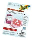 folia 150526 - Doppelkarten, ca. 10,5 x 15 cm, je 5 Karten (220 g/qm), Kuverts und Einlagen, rosa