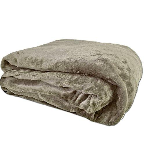 JEMIDI Flanell Microfaser Kuscheldecke Wohndecke Sofadecke Bettüberwurf Sofa Decke erhältlich in 3 Größen bis XXL Flanell Sand 200cm x 150cm -