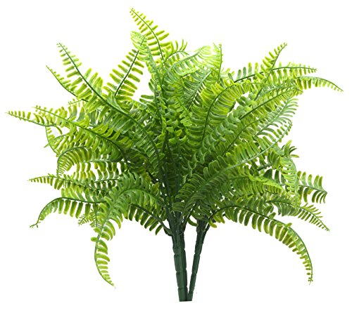 Bird FIY Boston Farn mit Geflecht Dekorative Silk Plant Simulation Greenery Sträucher Innen Außen Home Garten Büro Veranda Hochzeit Dekor 2 Dekoratives Künstliches Gras