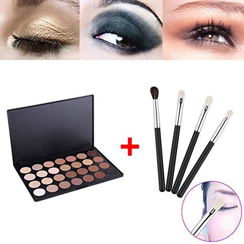 Hrph 28 Couleurs Kit Palette de Maquillage Neutre Eyeshadow Chaud EYESHADOW + 4pcs Pinceaux de Maquillage Eye Foundation Blending