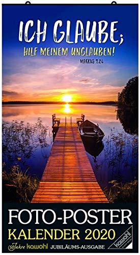 Foto-Poster-Kalender 2020: Jubiläums-Kalender zum Aufhängen - gerollt