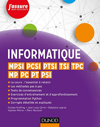Informatique MPSI, PCSI, PTSI, TSI, MP, TPC, PC, PT, PSI