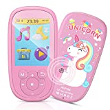 MP3 Bambini, AGPTEK Lettore MP3 MP4 con Grande schermo da 2,4 Pollichi 8GB, MP3 Player Portatile con Altoparlanti, FM, Registratore, Foto, Video, Cordino, per Regalo Natale, Compleanno, Supporta 128GB