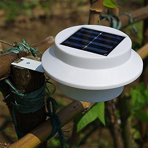 LU2000 Lumières de jardin aménagées solaires, lumières de clôture solaire Lampes de gouttière solaires Porte de mur de toit Porte Chemin de promenade Hall d'entrée Éclairage arrière