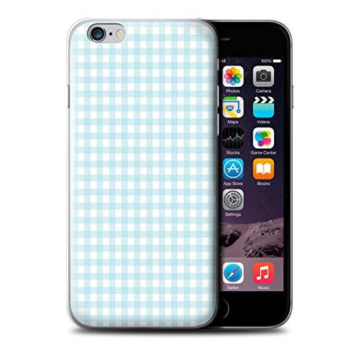 Coque de Stuff4 / Coque pour Apple iPhone 6 / Zig Zag Bleu Design / Mode Hivernale Collection Vichy Bleu Bébé