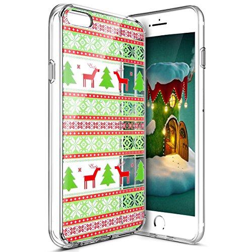 Custodia Cover iPhone 7/8 4.7 Silicone Morbida,Ukayfe HD Trasparente Cristallo di Lusso di Crystal Colorato Pittura Disegno per iPhone 7/8 4.7 Clear Flexible TPU Gel Ultra Sottile Copertura Case Prote Albero Tribale Modello