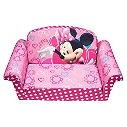 Marshmallow Childrens Furniture - 2 in 1 Flip Open Sofa - Disneys Minnie Mouse Bow-Tique