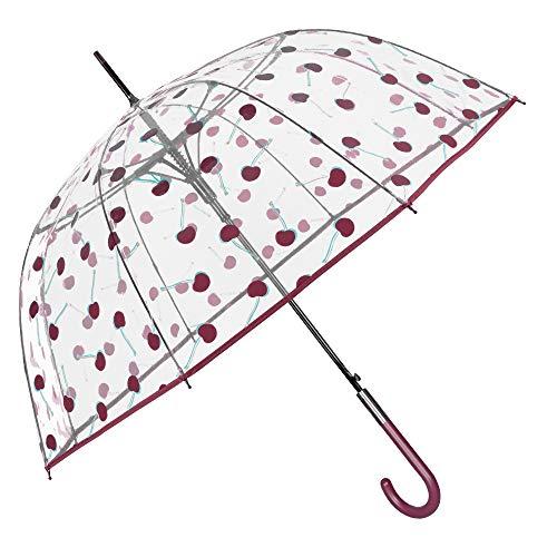Paraguas Transparente Burbuja Cerezas Mujer   Paraguas