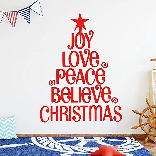 Brief Weihnachten Ornament Family Decor Wandaufkleber Wandkunst Dekoration Wohnzimmer Kinderzimmer Weihnachtsgeschenk 58 cm X 77 cm (Sport-ornamente, Weihnachten)