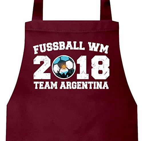 Fußball-bälle Argentinien (Argentinien Fußball WM Fanfest Gruppen Barbecue Baumwoll Grillschürze Kochschürze Team Argentina, Größe: onesize,Burgund)