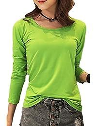 Yacun Manga Larga Camiseta Ocasional Mujer e25fd5aa5913