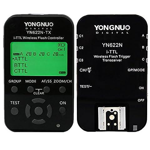 YONGNUO YN622N-KIT TTL Trigger Kit Télécommande Déclencheur Sans Fil avec HSS pour Nikon